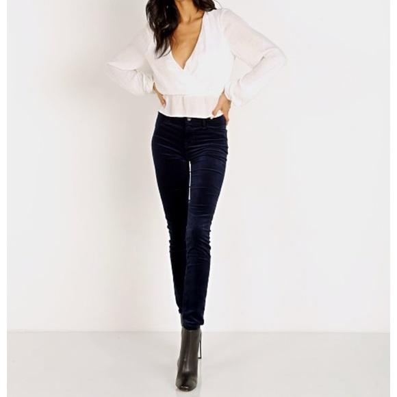 19601bee4639b NWT J Brand 815 Mid Rise Super Skinny Velvet Jeans